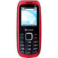 Forme C1+ Dual SIM Phone With FM Radio/ MP3 Player (1 Year Warranty) (Red)