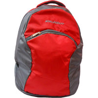 "Donex Light Weight 17"" Red & Grey Colour Laptop Backpack"