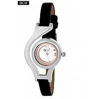 DCH Designer Case Analog Watch For Girls With 1 Year Warranty(Worldcup White N B