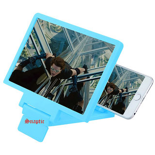 Snaptic Limited Edition Blue 3D Folding Mobile Phone HD Screen Magnifier