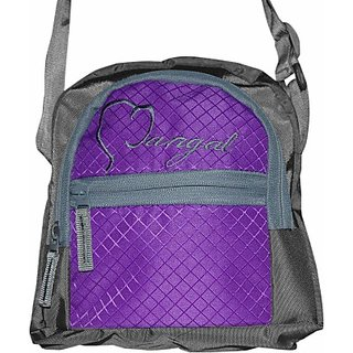 Mtc Purple And Grey Messenger Bag
