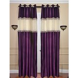 Beautiful Solid Purple Color  With Laces- Set Of 2 (4x7ft)