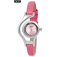 DCH Designer Case Analog Watch For Girls With 1 Year Warranty(Worldcup Pink)