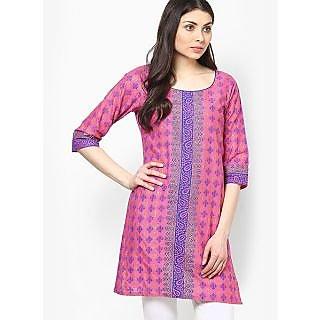 Deekshita Pink Printed Kurtis