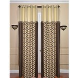 Beautiful Design Curtain Coffee With Cream With Laces- Set Of 2 (4x7ft)