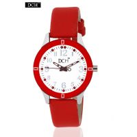 DCH Designer Case Analog Watch For Girls With 1 Year Warranty(Full Red)