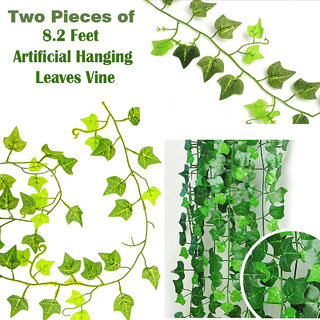 8.2 Feet Long Artificial Plant Hanging Ivy Leaves Vine