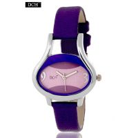 DCH Designer Case Analog Watch For Girls With 12 Months Warranty (Purple Egg)
