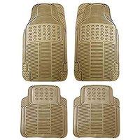 Hi Art Beige Rubber Floor and Foot Mats for Maruti Alto K10 (4 pcs.)