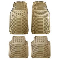 Hi Art Beige Rubber Floor and Foot Mats for Datsun  Go (4 pcs.)