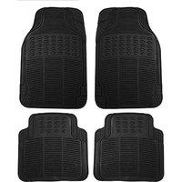 Hi Art Black Rubber Floor and Foot Mats for Chevrolet  Spark (4 pcs.)