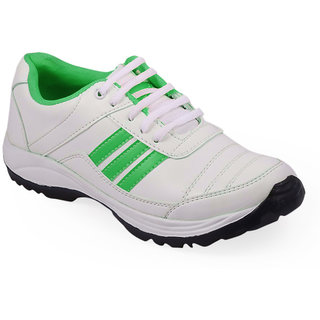 Stylos Mens Green and White Sports Shoes