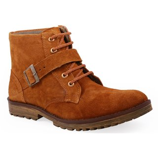 Mens Brown Lace-up Boot