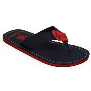 Mens Red Blue Slippers