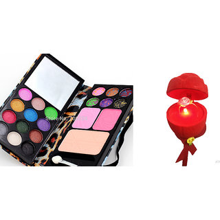 Combo of Ring in Musical LED Rose  Eyeshadow Make Up Kit