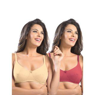 Sonari Afreen Women'S Regular Bra Pack Of 2 (afreenskintomato)