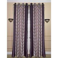 Beautiful Design Purple Colour Curtain(set Of 2) (4x7ft)
