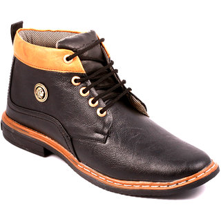 Stylos Mens Black Long Boots
