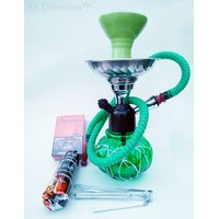 Goa Style 12 Hookah with Flavour  Tong  charcoal pack by Az Retails