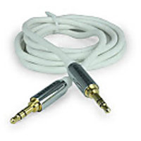 Amkette Car Stereo/Aux Cable For Car and Home stereo 2m(White)