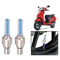 Tyre Led Motion Sensor Blue Light For Honda Activa Scooty (Set Of 2)