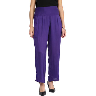 shopingfever purple trouser with side zipper and dori