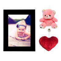 Novel   Single Photoframe , Heart  Teddy Gift  Hamper