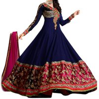 Riti Riwaz Semi Stitched Anarkali Suit
