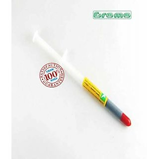 New ZP Super Conductivity GREY Thermal Paste Syringe   For Heat Sink Fan G/cards available at ShopClues for Rs.20