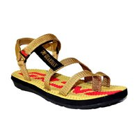 Guardian Tan Textile Velcro Floater Sandals