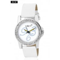 DCH WT 1228 White Analog Watch For Girls With 12 Months Warranty(WT 1228)