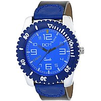 DCH WT 1237 Blue N Black Mist Collection Analog Watch For Men With 12 Months War