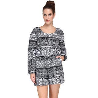 Kiosha Multi Full Sleeves Short Partywear Cotton Jumpsuits