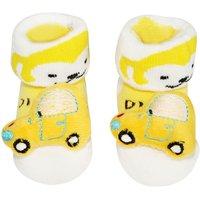 Wonderkids Yellow Car Baby Socks Booties