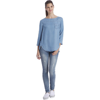ONLY  Blue Round Neck top