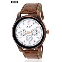 DCH WT 1241 Brown Analog Watch For Men With 12 Months Warranty