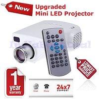 Mini LED Projector For TV,DVD,PC With SD,USB,AV In, VGA,HDMI,CoaxialTV
