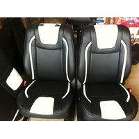 SWIFT Leatherite Black & white Seat cover