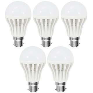 5 pcs LED Bulb 2pcs 9W, 2pcs 7W, 1 pcs 5W (Crest)  warranty/super quality