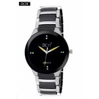 DCH Black N Silver Analog Watch For Men With 12 Onths Warranty