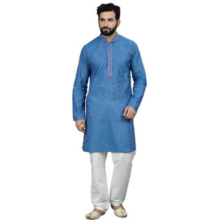 Manish Creations Only Kurta 08168-ML-S15-E71-TURQUOISE