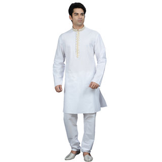 Manish Creations Only Kurta 08172-ML-S15-E135-WHITE