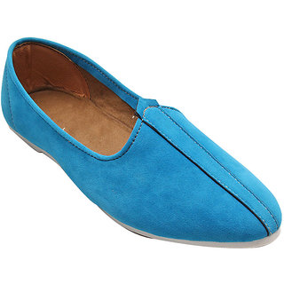 SKYBLUE SUEDE LEATHER JALSA SLIP-ON WITH WHITE SOLE BY PORT