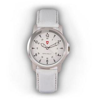 Svviss Bells Stylish White Watch For Women And Girls TA-777L White