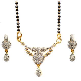 Pourni American Diamond Tanmaniya Mangalsutra set for women - SM89