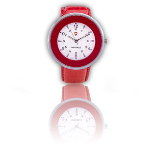 Svviss Bells Stylish Broad Red Watch For Women And Girls TA-157L RED