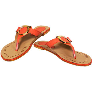 Rialto Orange Flat sandal for Women