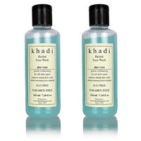 Khadi Aloevera With Scrub Herbal Face Wash (Sls  Paraben Free) - 210ml (Set of
