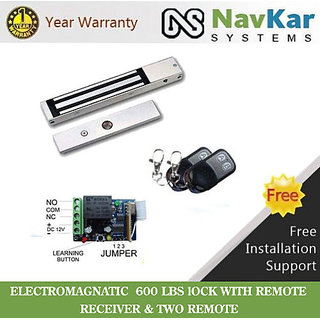 EM LOCK for Office Cabine to operate by Remote Electromagnetic Lock 4 Glass Door