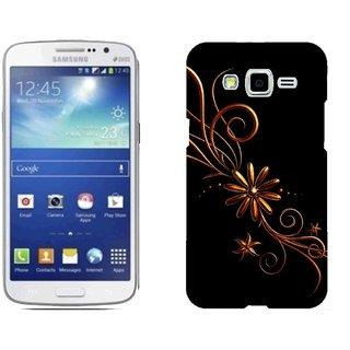 Samsung Grand 2 G7106 Design Back Cover Case - Ack Patterns Dark Background Black